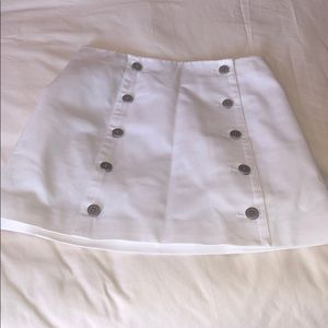 white skirt with buttons, in silver, use twice